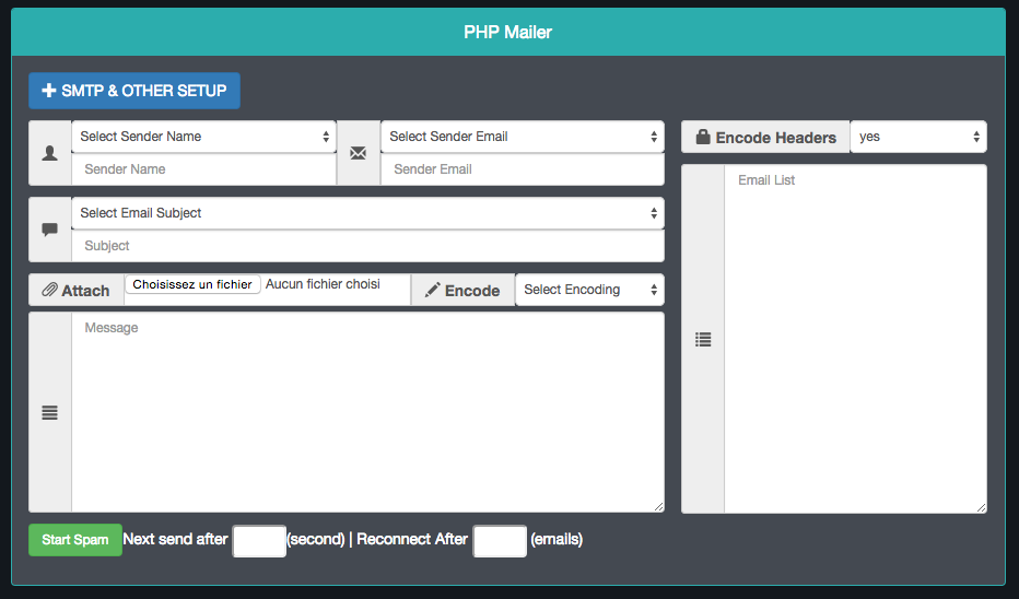 New PHP Mailer Priv8 UPDATED – Uneedsec